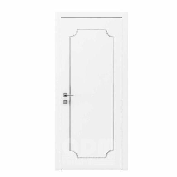 Двери Cortes  Prima с фрезировкой 13 белый матовый