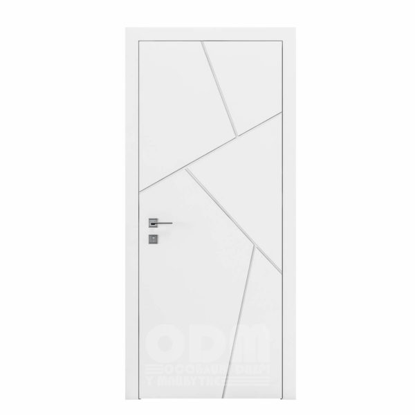 Двери Cortes  Prima с фрезировкой 15 белый матовый
