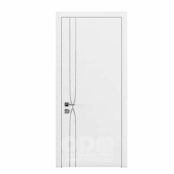 Двери Cortes  Prima с фрезировкой 16 белый матовый