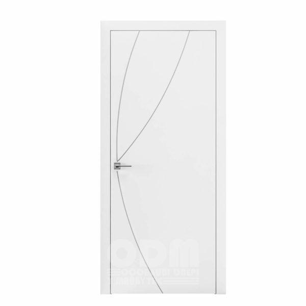 Двери Cortes  Prima с фрезировкой 17 белый матовый