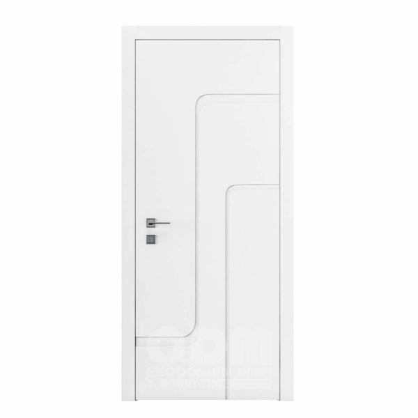 Двери Cortes  Prima с фрезировкой 18 белый матовый