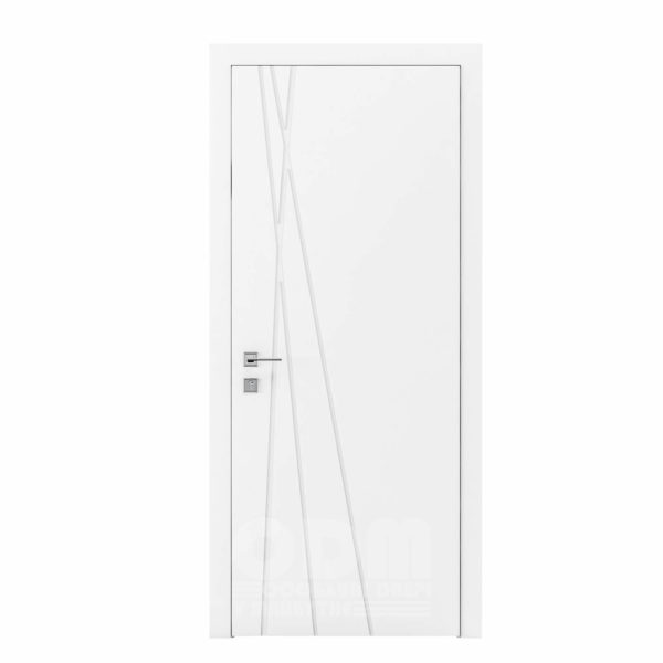 Двери Cortes  Prima с фрезировкой 21 белый матовый