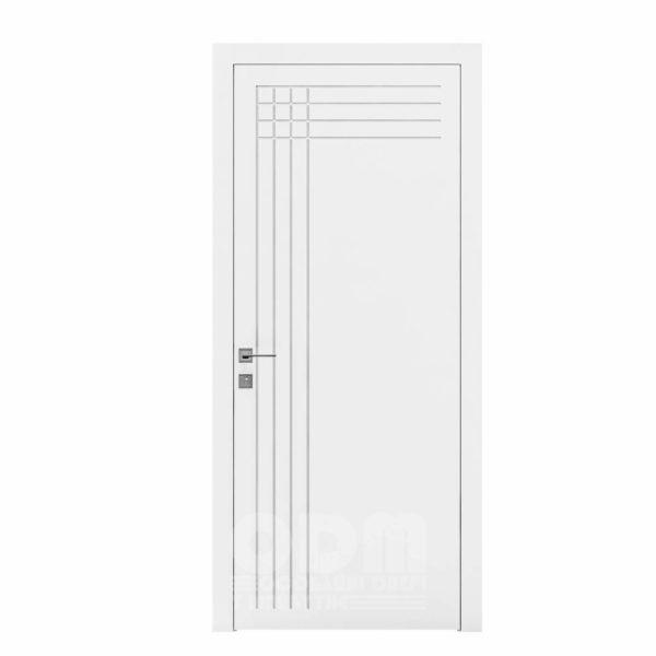 Двери Cortes  Prima с фрезировкой 22 белый матовый