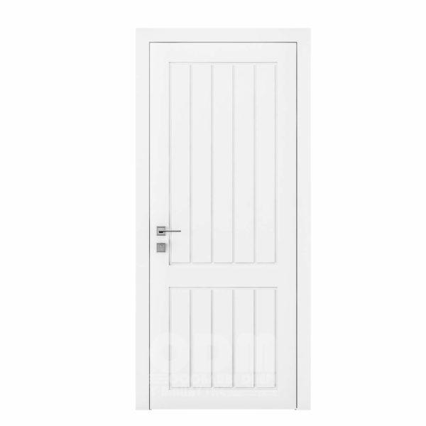 Двери Cortes  Prima с фрезировкой 25 белый матовый