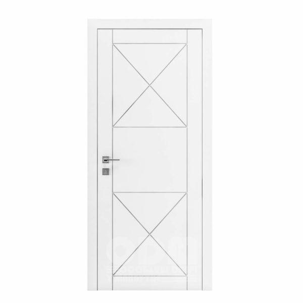 Двери Cortes  Prima с фрезировкой 26 белый матовый