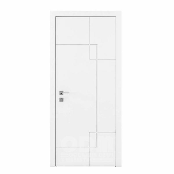 Двери Cortes  Prima с фрезировкой 6 белый матовый