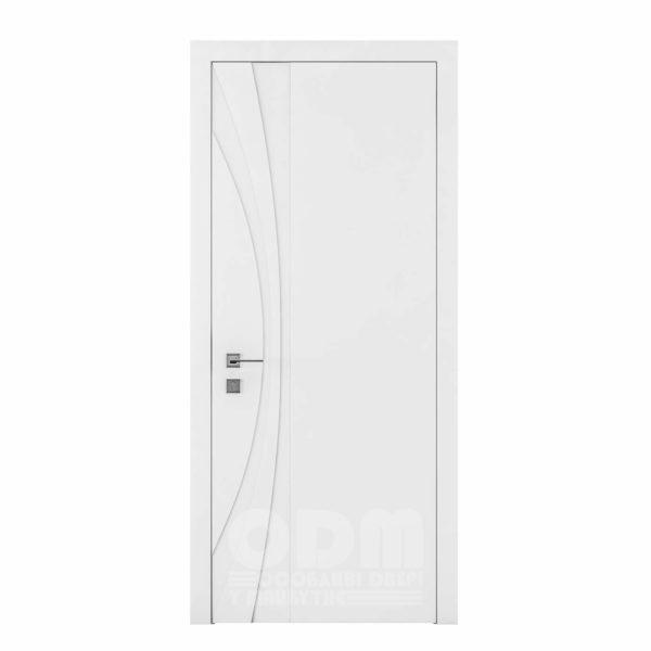Двери Cortes  Prima с фрезировкой 8 белый матовый