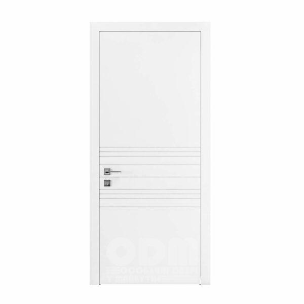 Двери Cortes  Prima с фрезировкой 9 белый матовый