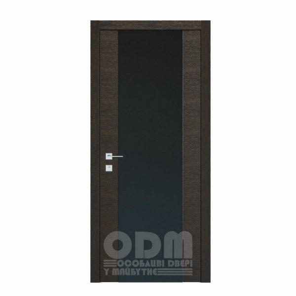 Двери Modern Flat Графит  (Триплекс чёрный)