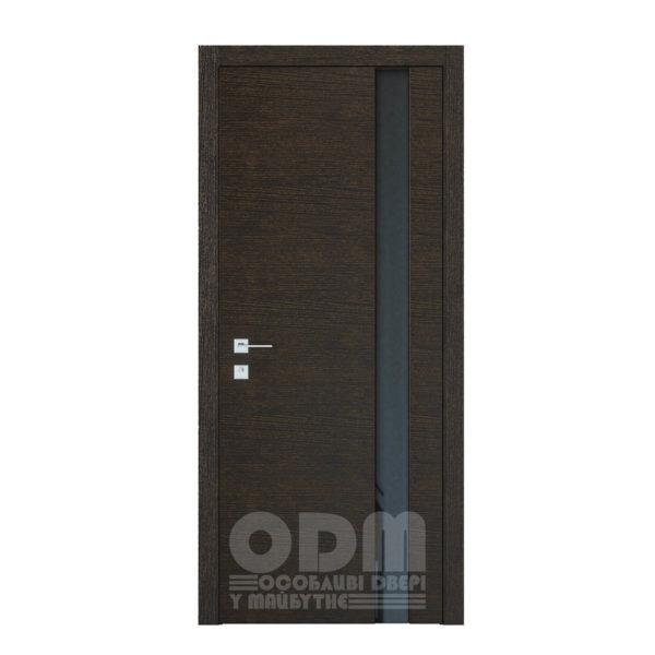 Двери Modern Flat Графит полустекло (Триплекс черный )