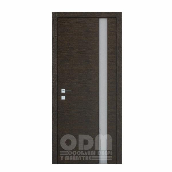 Двери Modern Flat Графит полустекло (Триплекс белый )