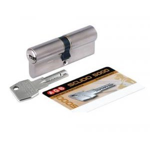 Цилиндр ключ-ключ AGB Scudo 30/30 матовый хром
