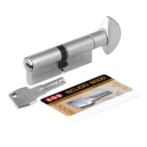 Цилиндр ключ/вертушок AGB Scudo 30/30 матовый хром