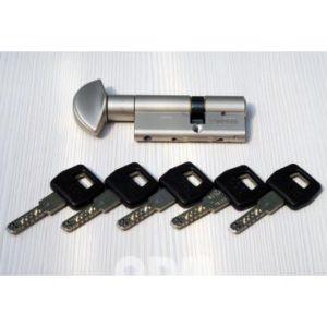 Цилиндр ключ/вертушок AGB ScudoDCK 30/30 матовый хром