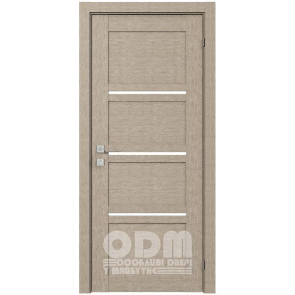 Двери Modern QUADRO полустекло Дуб сонома