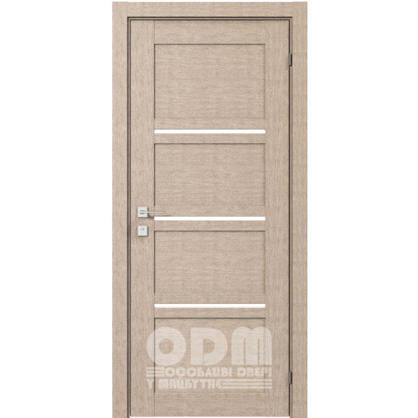 Двери Modern QUADRO полустекло Крем
