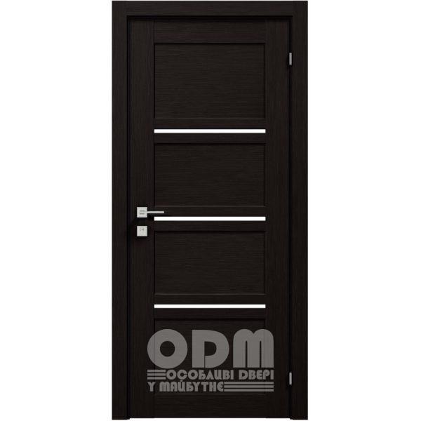 Двери Modern QUADRO полустекло Венге шоколадный