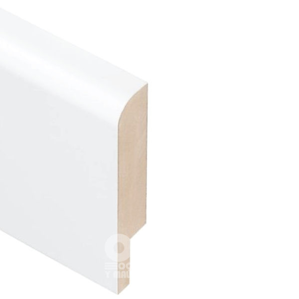 Плинтус Rodos Basic R8 2000x80x16, покрытие краска Белый мат