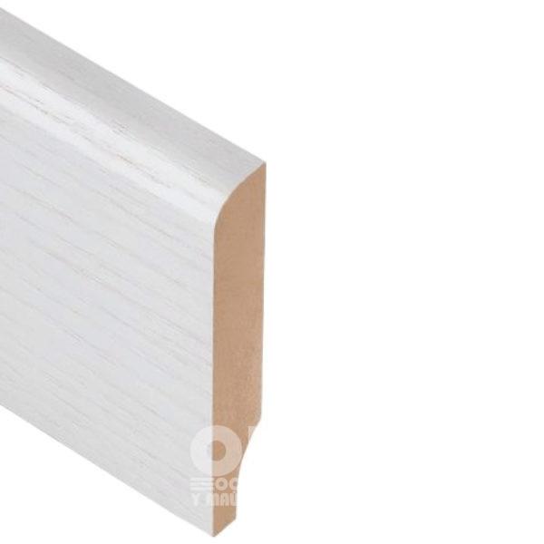Плинтус Rodos Basic R8 2000x80x16, покрытие шпон Белый ясень