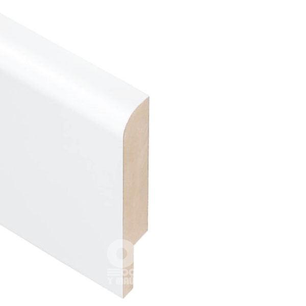 Плинтус Rodos Basic R8 2000x80x16, покрытие ПВХ Белый мат