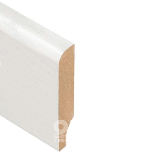 Плинтус Rodos Basic R8 2000x80x16, покрытие пленка Renolit Слоновая кость