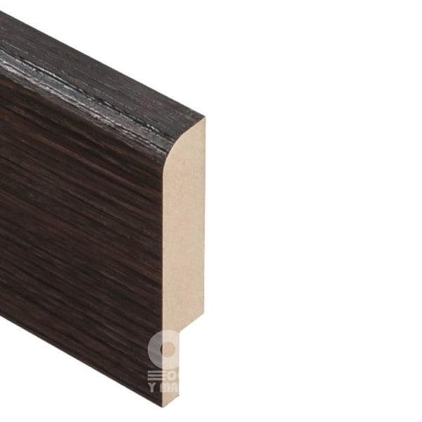 Плинтус Rodos Basic R8 2000x80x16, покрытие пленка Renolit Венге шоколадный