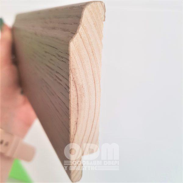 Плинтус Status ПЛ-3 2200x81x16, покрытие шпон