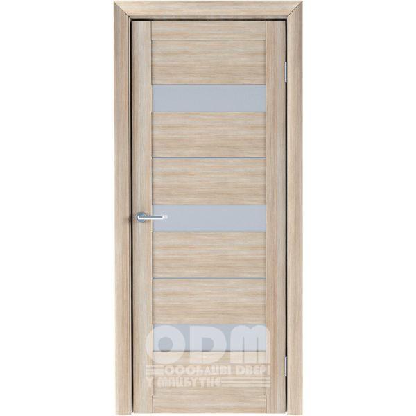 Двери Praga матовое стекло Акация кремовая