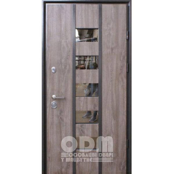 Входные двери STRAJ Proof Strim/Плоская (Vinorit дуб серый)