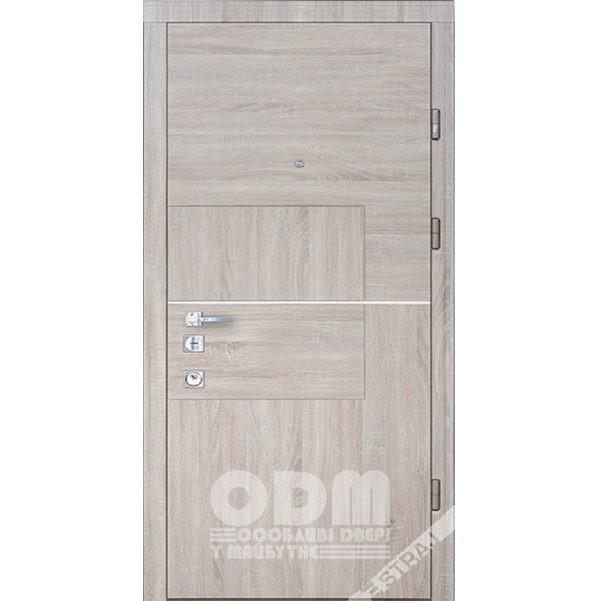 Входные двери STRAJ СтандартQuadro/Плоская (сонома темная)