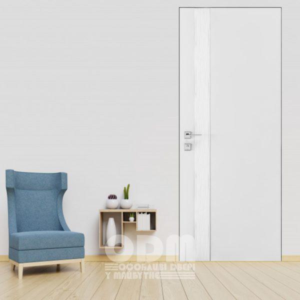 """Двери Loft """"Wave V"""" белый матовый"""