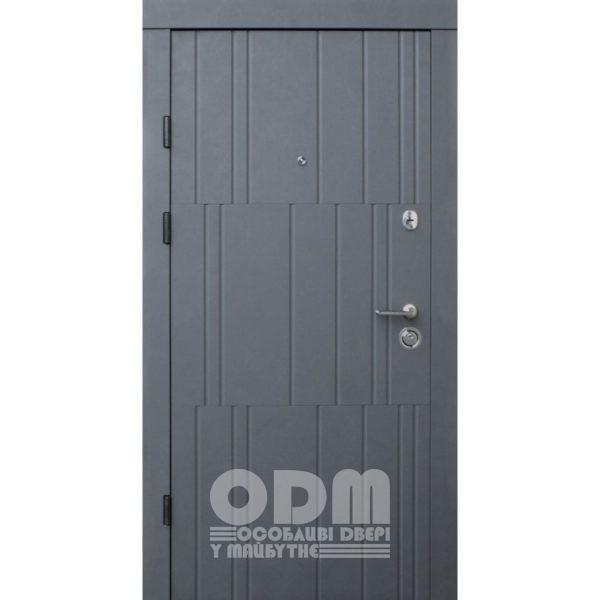 Входные двери Qdoors Премиум Kale Арт (бетон графит/бетон кремовый)