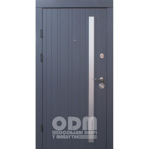 Входные двери Qdoors Премиум Kale Браш-Al (серый супермат/какао супермат)