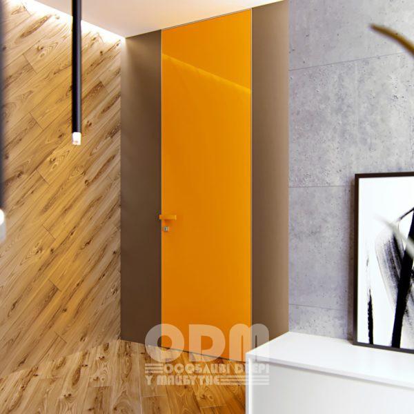 Двери ODM Стекло Diamant RAL 1007