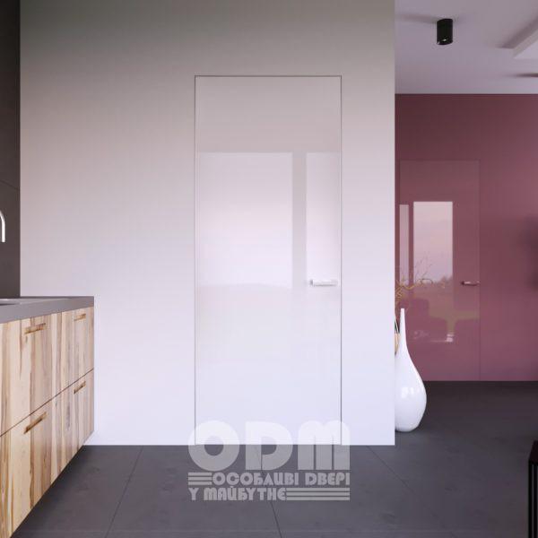 Двери ODM Стекло Diamant RAL 9003