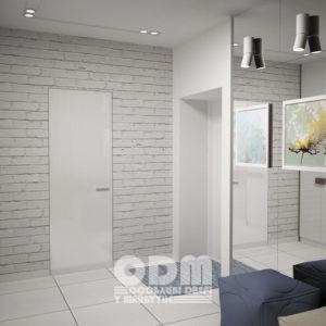 Двери ODM Стекло Diamant Satin RAL 9003