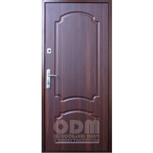 Входные двери Qdoors Лайт Метал/Оптима (медный антик/орех темный)