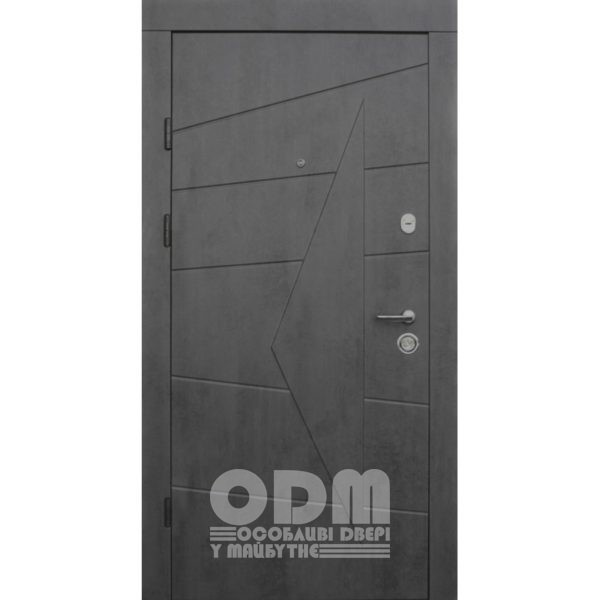 Входные двери Qdoors Премиум Kale Акцент (бетон темный/бетон серый)
