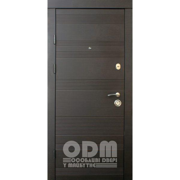 Входные двери Qdoors Премиум Kale Статус (венге темное горизонт)