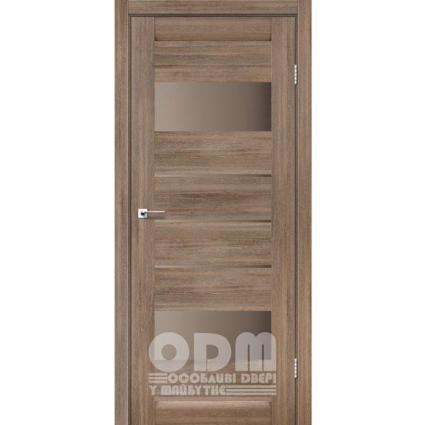 Двери ARONA Серое дерево, стекло сатин бронза