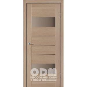 Двери ARONA Дуб мокко, стекло сатин бронза