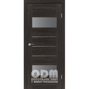 Двери ARONA Дуб саксонский, стекло серый графит