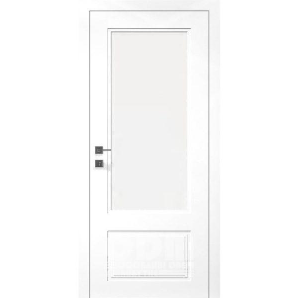 Двери Cortes Galant со стеклом белый матовый