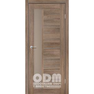 Двери LORENZA Серое дерево, стекло сатин бронза