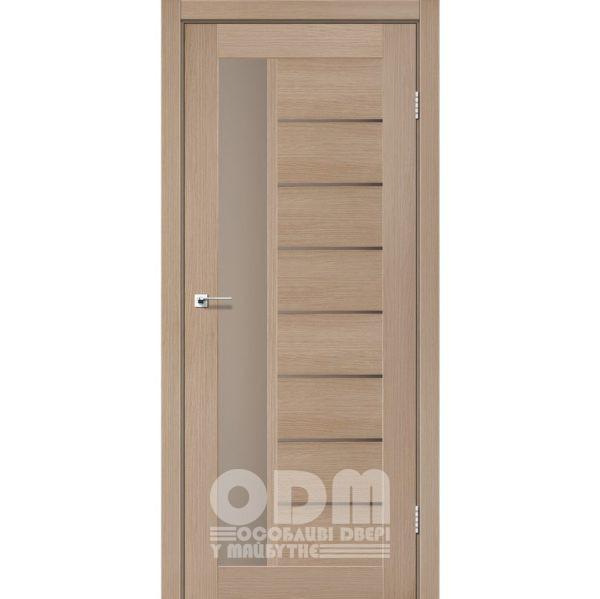 Двери LORENZA Дуб мокко, стекло сатин бронза