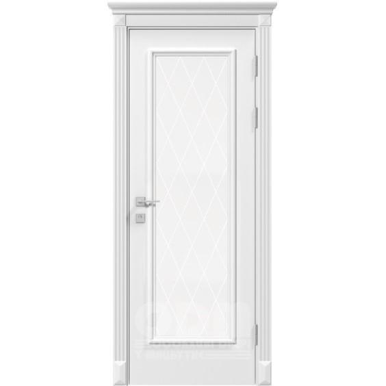 Двери Siena Asti со стеклом рис.3, белый матовый