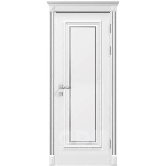 Двери Siena Asti глухое, белый матовый + Патина
