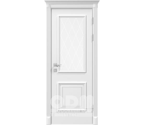 Двери Siena Laura со стеклом рис.3, белый матовый