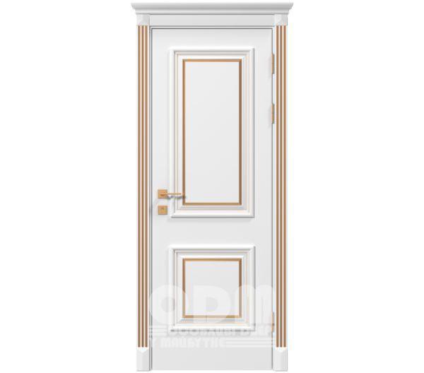 Двери Siena Laura глухое, белый матовый + Патина