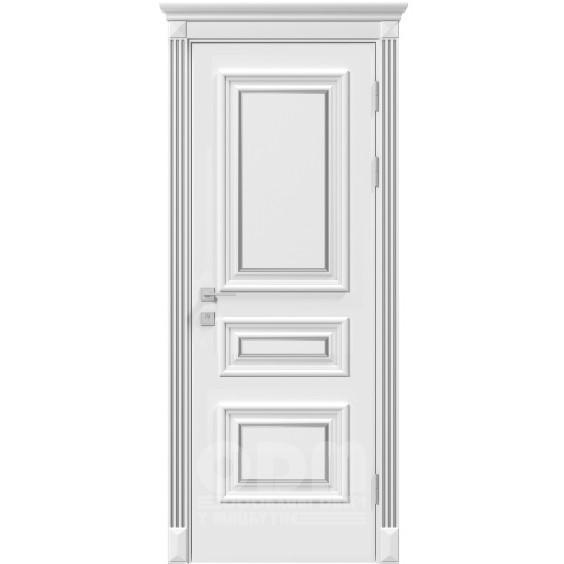 Двери Siena Rossi глухое, белый матовый + Патина